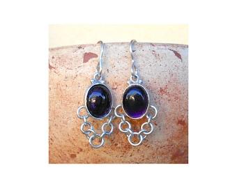 Amethyst Earrings, Sterlin silver 925