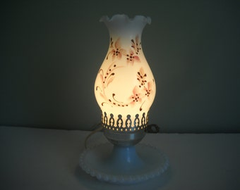 Milk Glass Electric Lamp