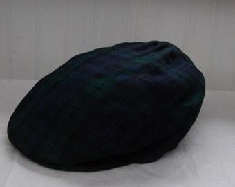 Newsboy Scottish Cap - James Pringle Weavers Inverness Scotland -  Flat Cap Golf Newsboy Baker Racing - Drama/Theature/Costume