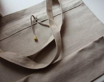 Light Linen Bag - Daily Linen Bag - Shopping Bag