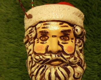 Ceramic Hand-Painted Santa Ornament