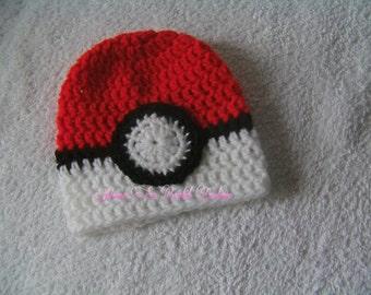 pokermon ball hat