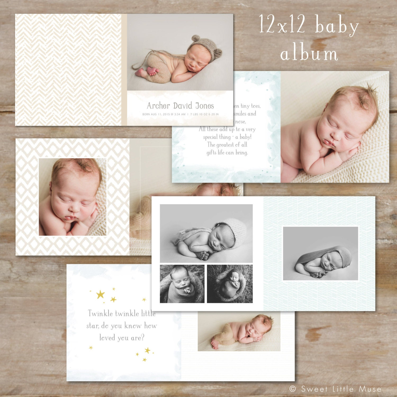 baby album template for photographers baby boy photo book. Black Bedroom Furniture Sets. Home Design Ideas