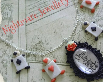 Alice in Wonderland inspired Down the Rabbit Hole necklace