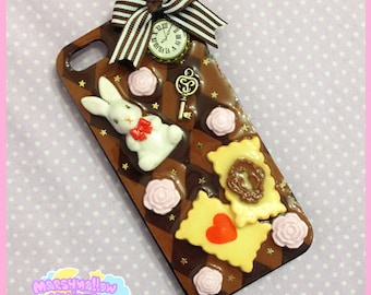 Iphone 5/5s case alice in wonderland white rabbit cute and kawaii lolita style