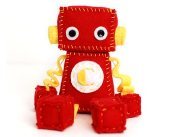 Red and Yellow Robot with Custom Initial