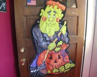 Frankenstein decoration, Halloween door hanging, Halloween decoration, wall hanging, glow in the dark, 3D door decoration