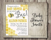 Mommy to Bee Baby Shower Invitation - Digital Baby Shower Invite - Parents to Bee Baby Shower -Bee Neutral Theme - Printable