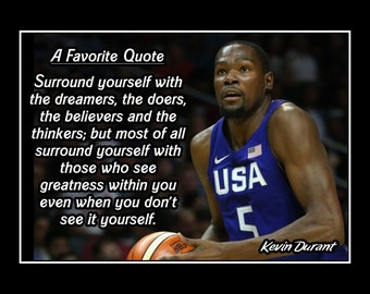 Kevin Durant Quote Amazing Lebron James Quote Poster Basketball Wall Art Son Wall