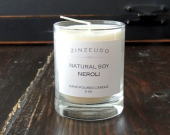 NEROLI Soy Wax Votive Glass Jar Candle Aromatic Aromatherapy Orange Blossom