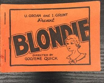 Tijuana Bible Blondie & Dagwood Antique Erotica Cartoon Comic 8 pages