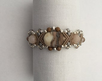 Micro Macrame Beaded Bracelet -Memories of the Beach