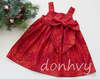 Girl's Christmas Dress Sizes 1-8