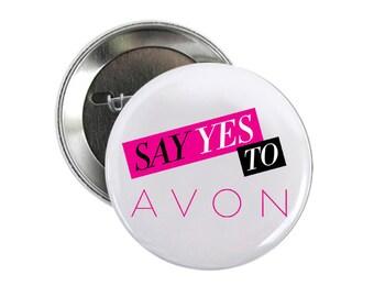 Avon 2 inch Pinback Button