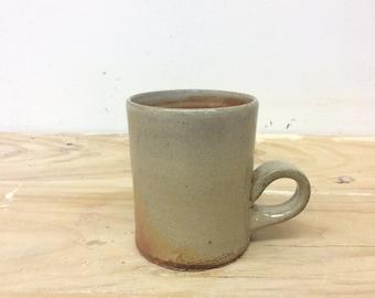 Wood fired mug, ceramic mug, 8oz mug