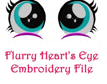 Flurry Heart Baby Pony Embroidery Eye File My Little Pony Friendship is Magic Cadence and Shining Armor Alicorn Newborn