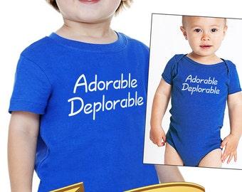 adorable deplorable trump onesie or toddler shirt       trump baby gift