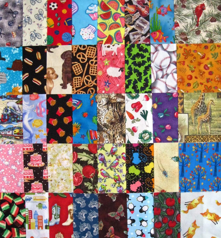 I spy childrens 5 quilt fabric squares set of 40 for Childrens quilt fabric