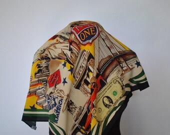 Vintage CODELLO printed silk scarf....(056)