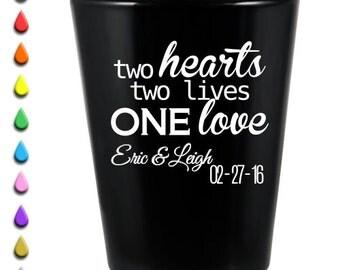 "144 ""Two Hearts"" 1.5oz Black Shot Glass"