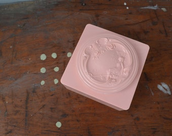 Vintage Pink Powder Container