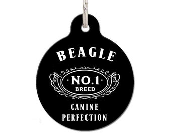 Beagle Dog ID Tag, Dog Breed Dog ID Tag, Custom Pet Tag | FREE Personalization