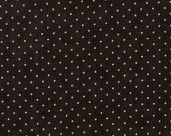 Moda Quilt Fabric - Essential Dots - Black Background - 8654 28 - By the Yard Listing
