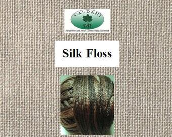 Valdani Silk Floss - Six Strand - Color S196 Olive Steel - 21 Meters