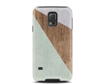 For galaxy s8 case, for Galaxy Note 4 case, for galaxy s5, for galaxy s6 case, for s4 case, for samsung s7 cover - Wood Color Block