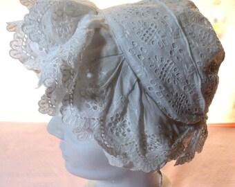 Vintage cotton bonnet