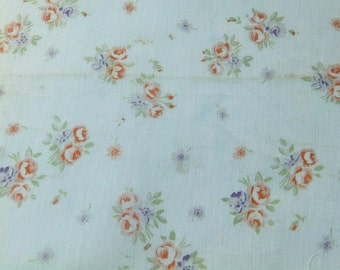 Fine rayon vintage French 1920's fabric with roses - My 3