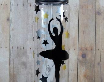 Personalized Ballerina Dance Water Bottles, Dancer, Dance Team, Custom Dance Waterbottle, Team Sport, Team Gift, Dance Team Gift, BPA Free