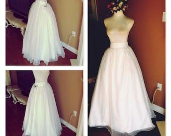 Ivory wedding skirt, wedding dress - skirt only