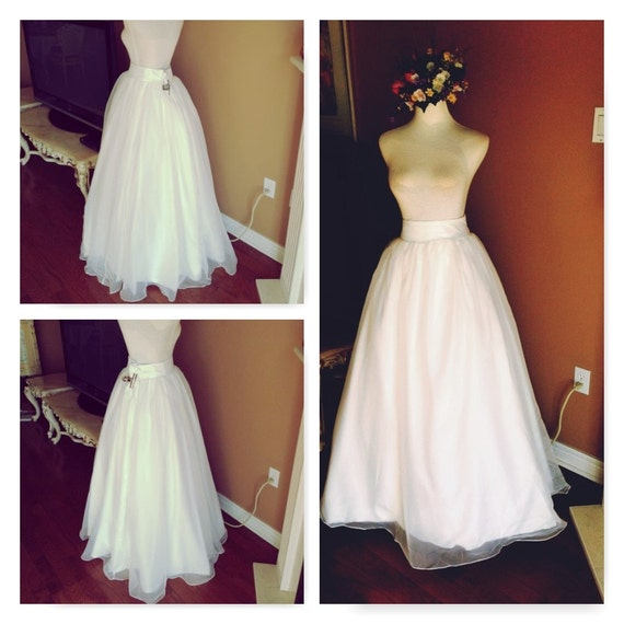 Ivory wedding skirt wedding dress skirt only for Wedding dress skirt only