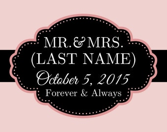Mr & Mrs Wedding Banner With Date