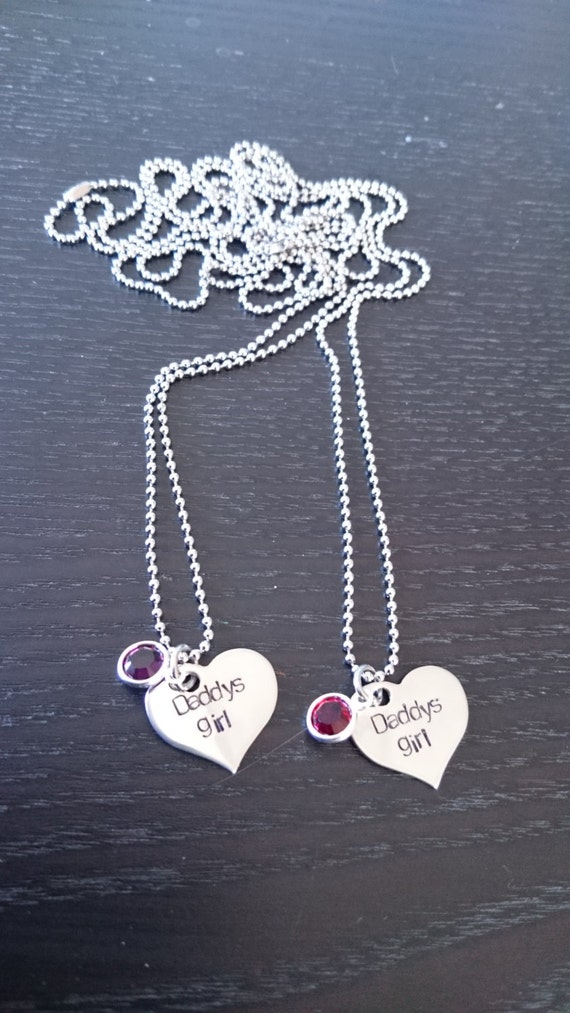 Personalized Sisters Necklaces with Swarovski Birthstone