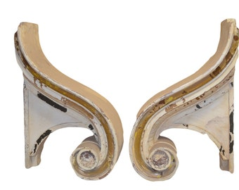 Wood Rams Head Pediment , Architectural Salvage, Antique Pediments, Wood Pediments, Vintage Pediments, Corbels and Brackets