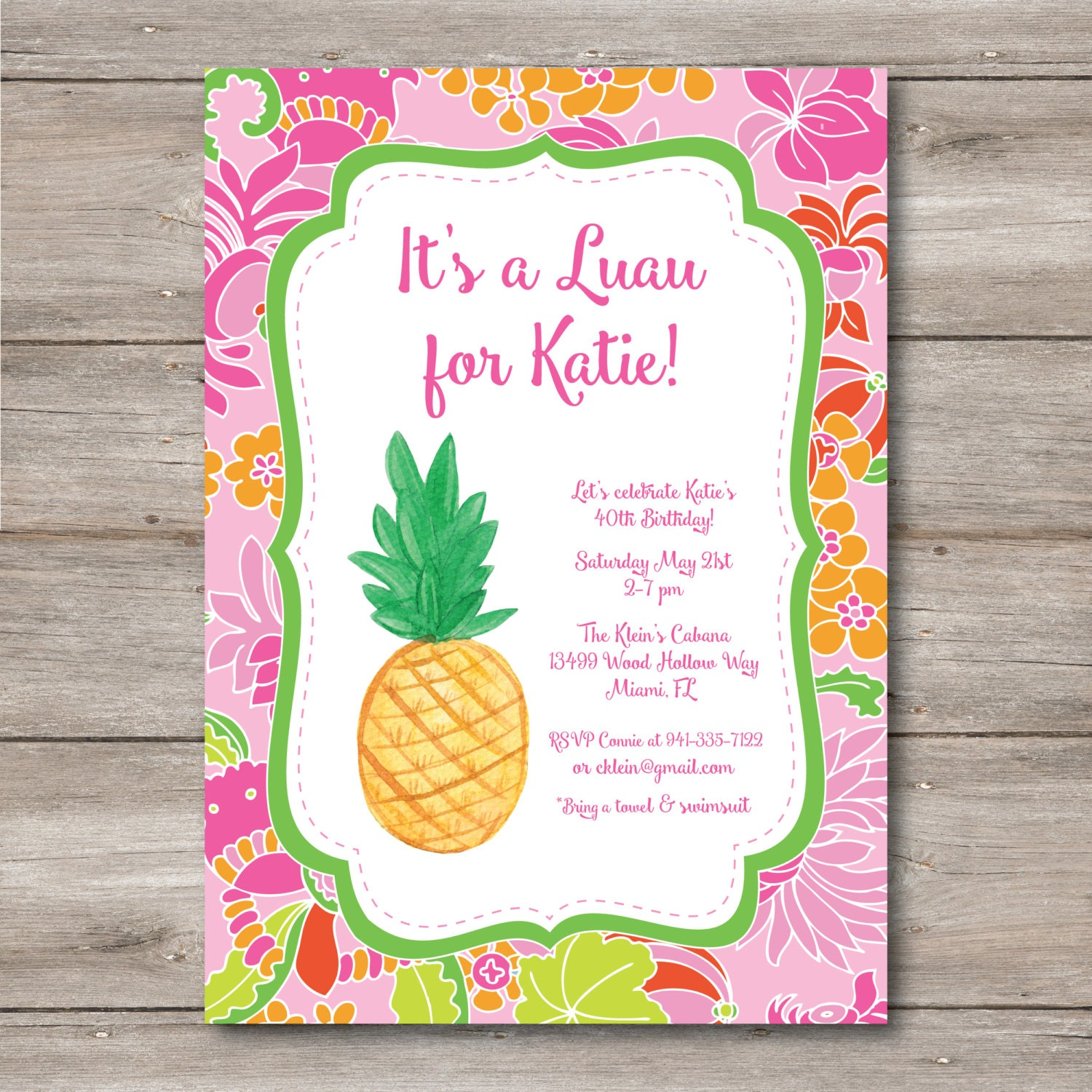 luau party invite  etsy, invitation samples