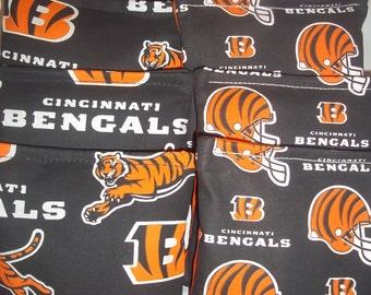 8 ACA Regulation Cornhole Bags -  NFL Cincinnati Bengals on 2 Different Prints