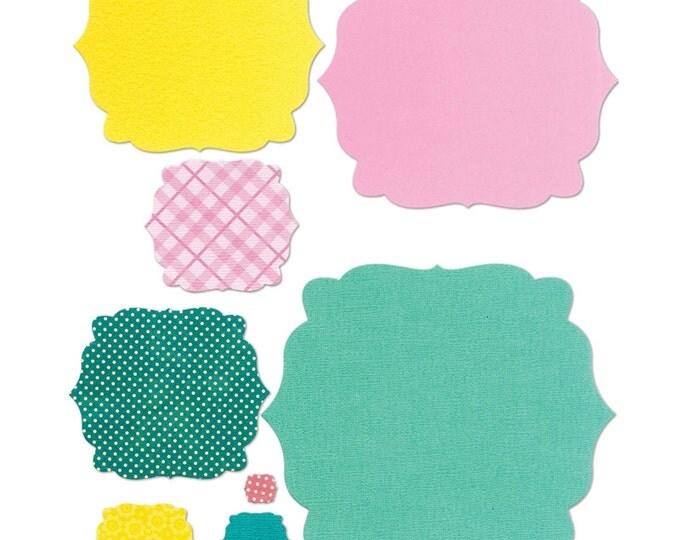 New! Sizzix Framelits Die Set 8PK - Bubbly by Stephanie Barnard 659635