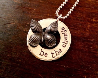 Be the Change open circle necklace