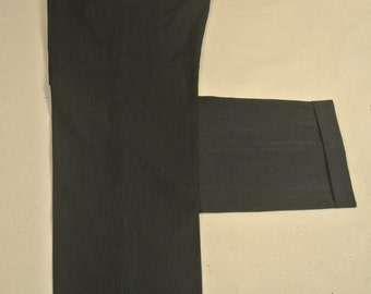 Brooks Brothers Madison Charcoal 100% Worsted Wool Dress Pleat Trousers Men's Waist Size: 33x31