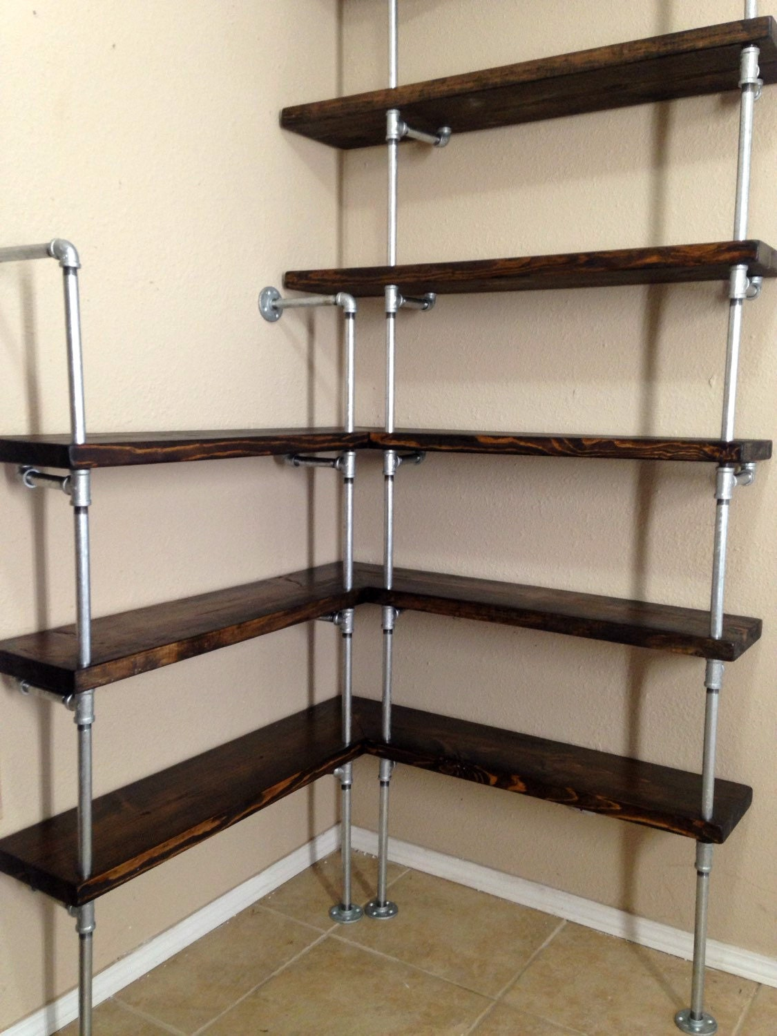 Shelving For Kitchen Corner Shelving Unit Corner Shelf Pipe Shelving