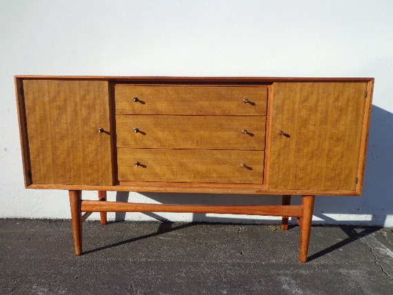 SOLD Mid Century Modern Danish Media Console Sideboard Furniture ...