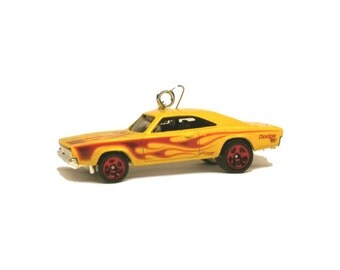 1969 Dodge Charger 500 Hot Wheels Toy Die-Cast Car Ornament