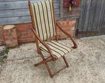 Vintage Upholstered Fold Up Chair