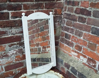 Hand Painted and Distressed Painted Shabby Chic Mirror