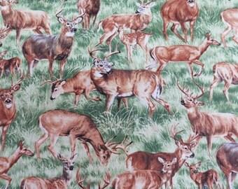 Realistic American Wildlife Deer Buck & Doe Nature Outdoors #4392 By the Yard