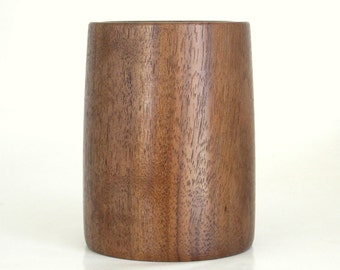 Wooden Pencil Cup Turned in Walnut