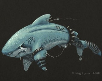 Goth Shark Limited Edition Print